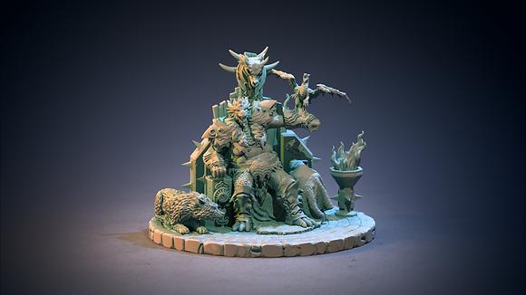 Dragonwolf Chieftain from clay cyanide