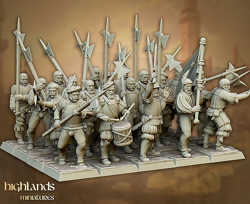 Sunland Imperial Halberdier Troops from Highland Miniatures