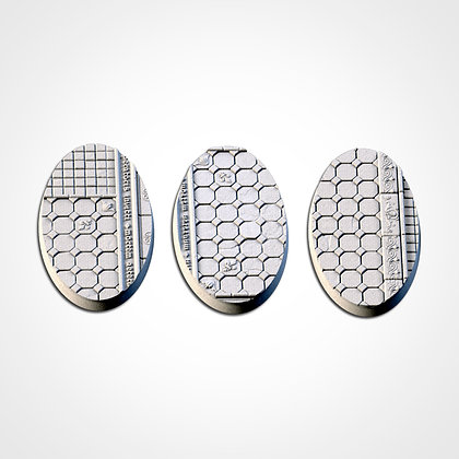 74mm by 43mm oval Bases 3 pack Royal Palace design