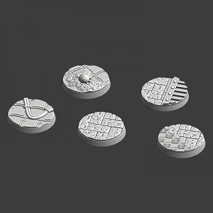 25 mm bases 5 pack medieval designed