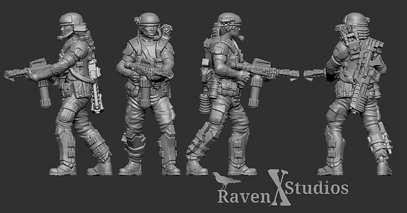 Aliens Colonial Female Marine From RavenX Studios