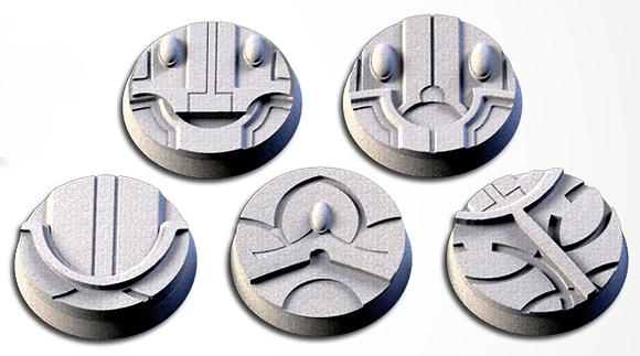32mm bases 5 pack Magic Temples design