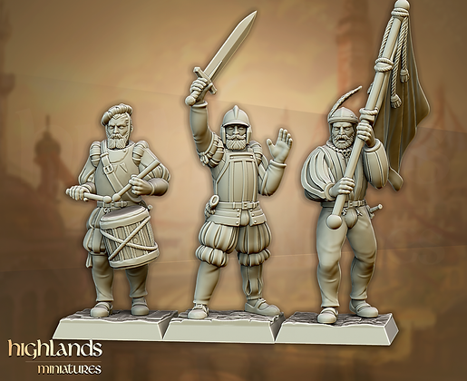 Sunland Imperial Troops Command Group from Highland Miniatures