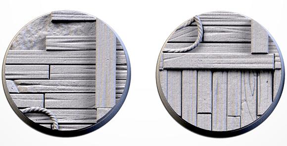 50mm bases 2 pack Wooden design