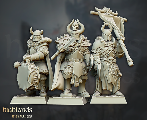 Varyags Warriors command group from Highlands Miniatures