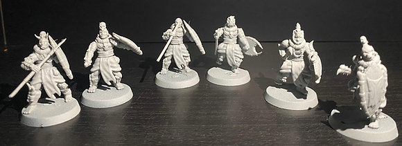 Set of 5 Warriors Of The Far South Tribes From Khurzluk Miniatures