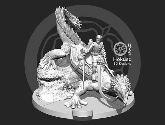 Negotiator Riding A Lizard from Hokusa