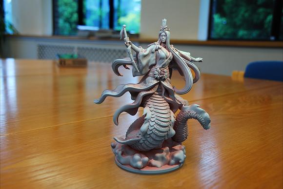 Nuwa Goddess from clay cyanide