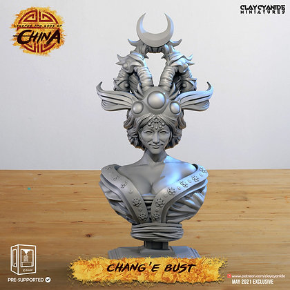 chang e bust from clay cyanide