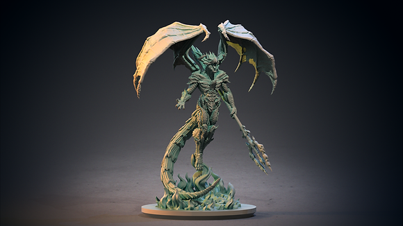 Draconic Hellborn from clay cyanide