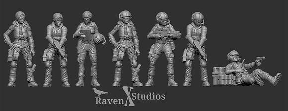 Female Pilot Bundle From RavenX Studios