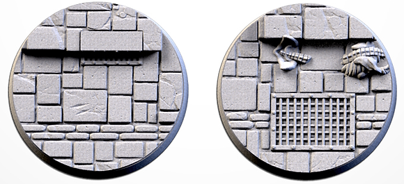 50mm bases 2 pack Dungeon design