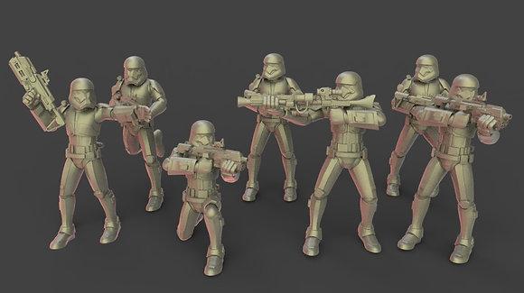 Order 1 troopers lazer rifles from Warblade studio
