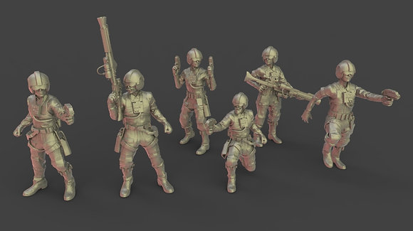 Rebel Pilots with Weapons from warblade studio