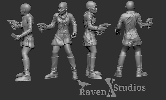 Deltan Crewwoman from RavenX Studios