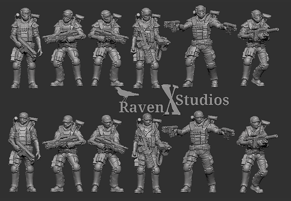PMC Troopers Pack From RavenX Studios
