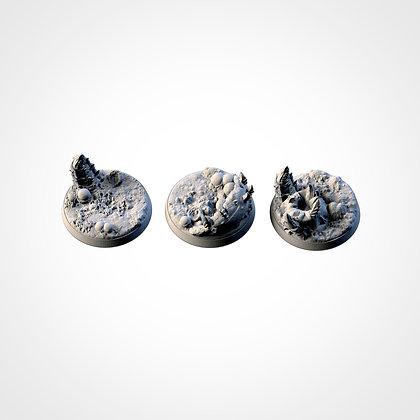 40mm bases 3 pack Alien design