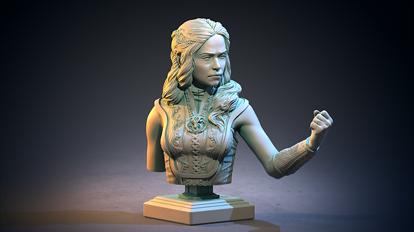 Dragon Queen Bust from clay cyanide