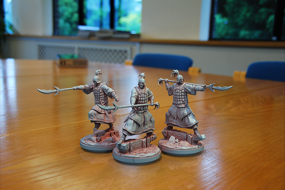 Dynasty Spear Men from clay cyanide