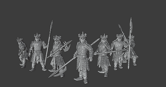 Eastern Warriors Pike Men By Kolbeths painting and design