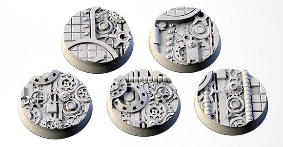32mm bases 5 pack Steam Punk design
