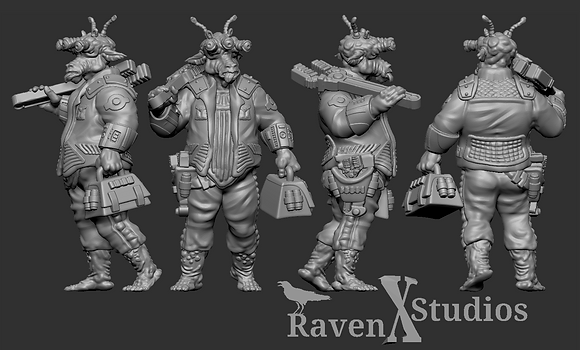 Dock Worker Gran with a Hammer or Wrench from RavenX Studios