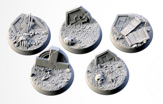 25 mm Bases 5 pack Graveyard design