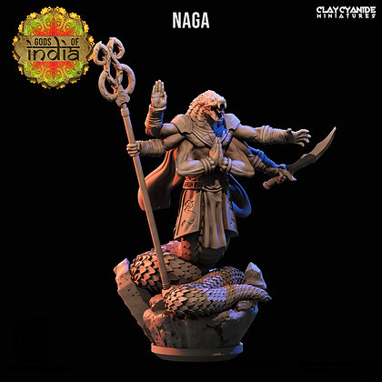 Naga with scepter from Clay Cyanide Miniatures