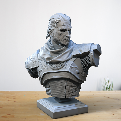 Gerard Bust from clay cyanide