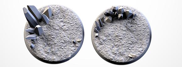 50mm bases 2 pack CRYSTAL XENOS design