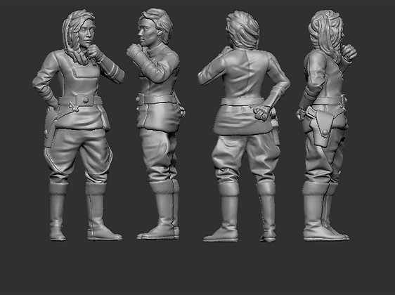 Female Human Lieutenant from RavenX Studios