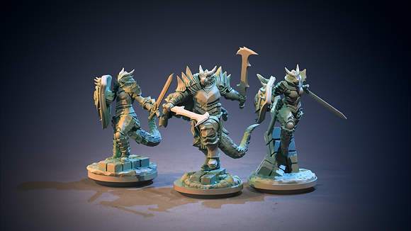 Dragonblood Knights from clay cyanide