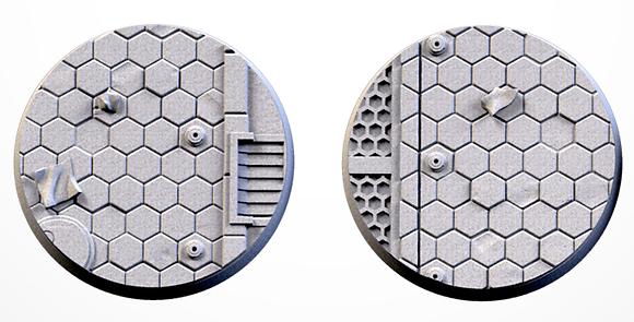 50mm bases 2 pack City Scifi design