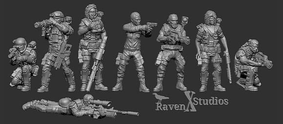 Ground Marines Bundle 2 From RavenX Studios