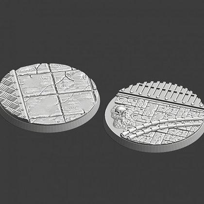 60mm Bases pack of 2 medieval design