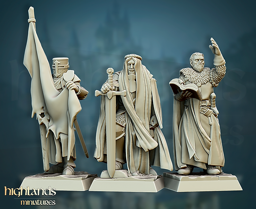 CRUSADER COMMAND GROUP from Highlands Miniatures