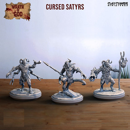 Cursed Satyrs from clay cyanide