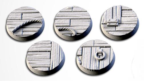 25 mm Bases 5 pack Wooden design