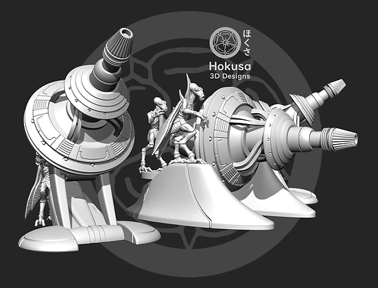 Space Bugs Heavy Sonic Cannon From Hokusa studios