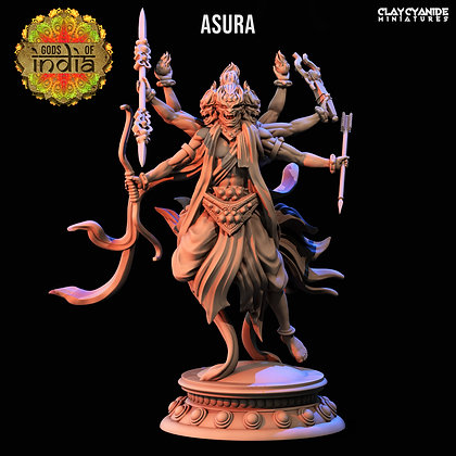Asura with spear and bow from Clay Cyanide Miniatures