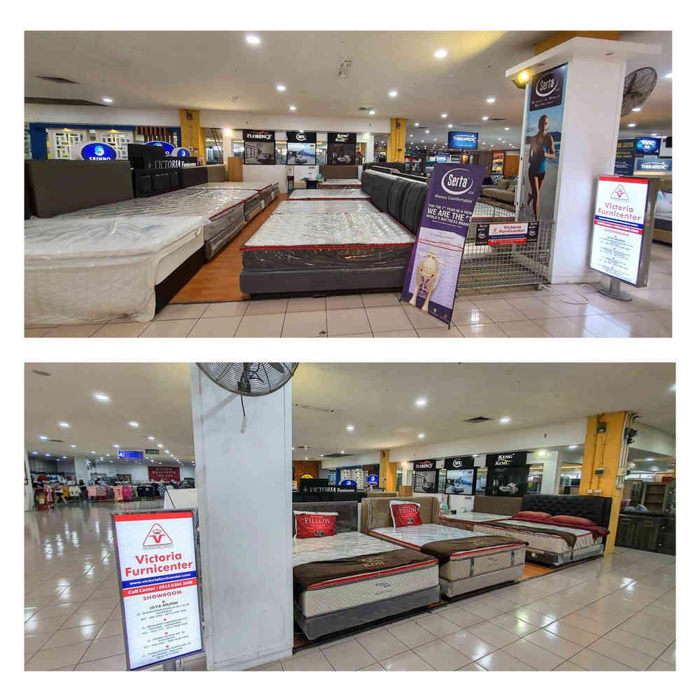 Victoria Furnicenter Pasar Atom Surabaya | Stand Tetap Kasur King Koil, Serta, Florence Spring Bed