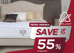 Up to 55% OFF   Harga Promo Airland Spring Bed   Agustus 2020