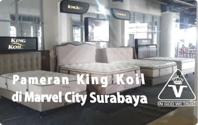 Pameran King Koil Spring Bed di Marvel City Surabaya