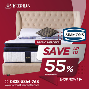 Up to 55% OFF | Harga Promo Simmons Spring Bed | Agustus 2020