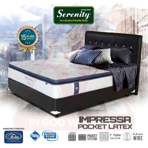 Serenity by Elite - Impressa Pocket Latex - Kasur Saja - 90 x 200 / 90x200