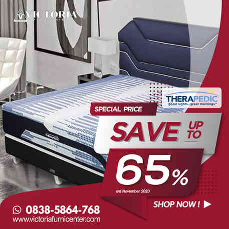Up to 65% OFF | Harga Promo Terbaru THERAPEDIC Januari 2021 Spring Bed Diskon Surabaya Sidoarjo