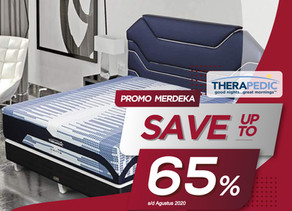 Up to 65% OFF   Harga Promo Therapedic Spring Bed   Agustus 2020