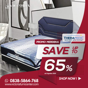 Up to 65% OFF | Harga Promo Therapedic Spring Bed | Agustus 2020