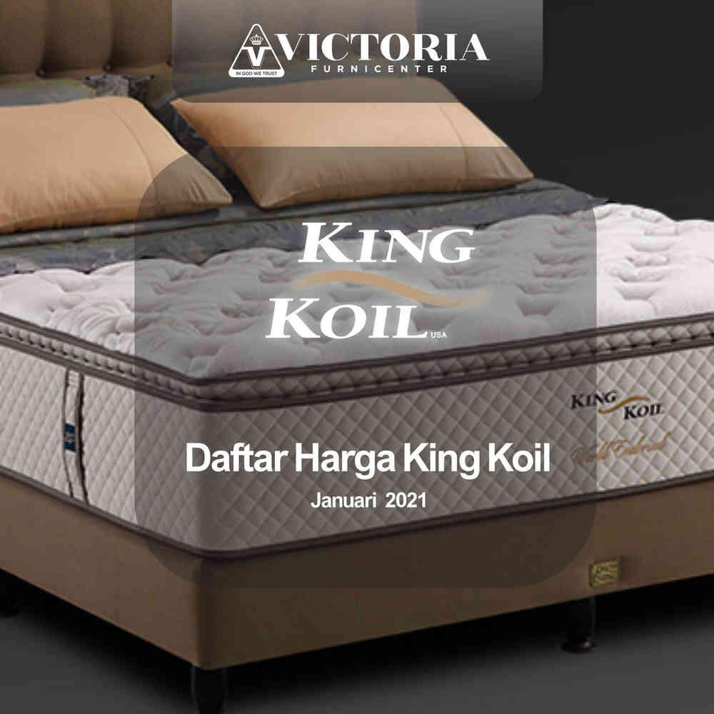 Daftar Harga KING KOIL Spring Bed Surabaya Jawa Timur | Januari 2021 | Victoria Furnicenter