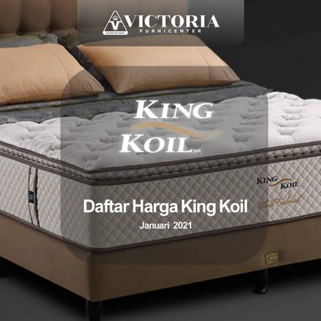 Daftar Harga KING KOIL Spring Bed Surabaya Jawa Timur   Januari 2021   Victoria Furnicenter